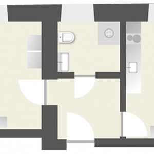 2-Raum Apartment